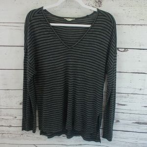 Madewell anthem v neck tee in stripe size small